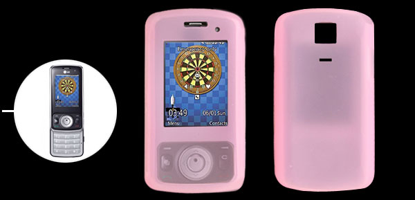 Pink Silicone Skin Mobile Phone Case for LG KT520