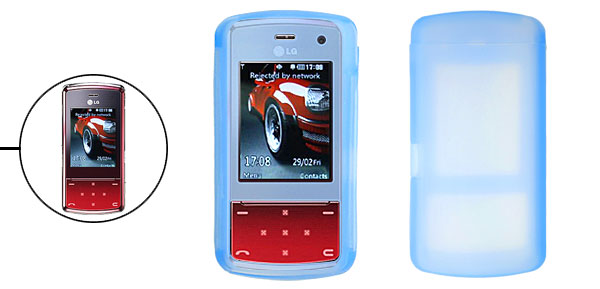 Skyblue Silicone Skin Mobile Phone Case for LG KF510