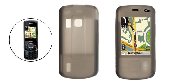Gray Silicone Skin Mobile Phone Case for Nokia 6210N