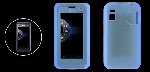Skyblue Silicone Skin Mobile Phone Case for LG KF700