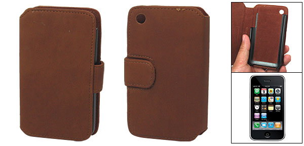 Magnetic Flip Soft Leather Wallet Style Case for iPhone 3G