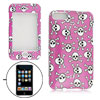 Fuchsia Hard Plastic Protector Case Skull Pattern for iPod Touch ...