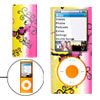 Colorful Plastic Case Flower Pattern for iPod Nano Chromatic 4th Generation