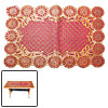 Rectangle Sunflower Soft Decorative Table Mat Pad