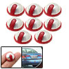 Round 8 Pieces Car Door Guard Protector Decorative Sticker