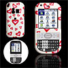 Pink Heart Pattern White Plastic Case for Palm Treo Centro 690