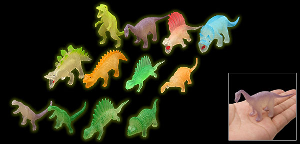 Mini Colorful Dinosaur Toy Collection Gift for Kids 12 Pcs