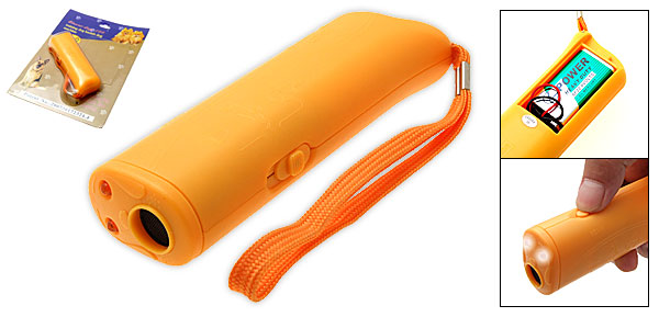 Yellow Plastic Training Banish Dog Pet Flash Light Toy