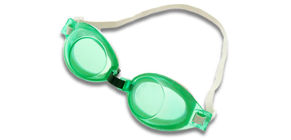 Lady's Green Youth Sport Safety Swim Swimming Pool Goggles