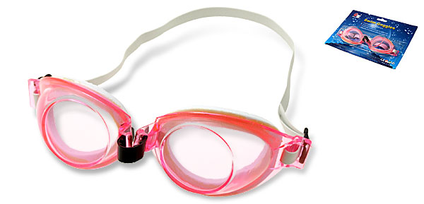 Lady's Pink Youth Sport Safety Swim Swimming Pool Goggles