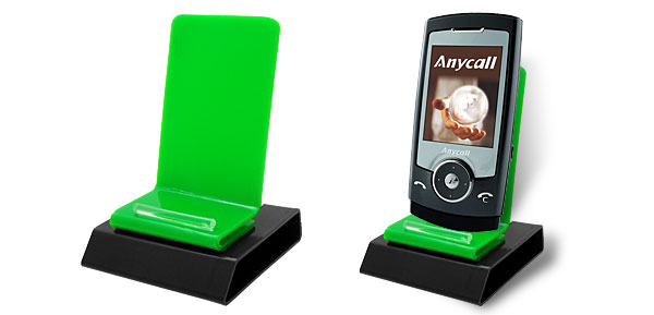 Decorative Black Base Green Plastic Mobile Cell Phone Holder Stand