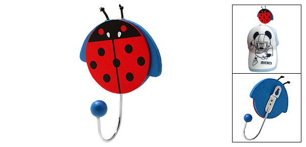 Cute Cartoon Ladybug Ladybird Beetle Mini Decorative Wall Hanging Hanger Hook
