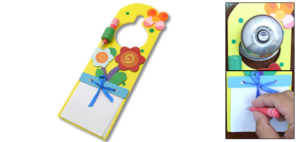 Beautiful Colorful Flower Wooden Note Message Board