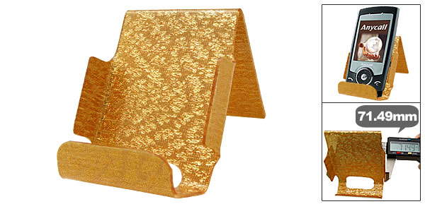 Elegant Glitter Golden Plastic Mobile Cell Phone Holder Stand
