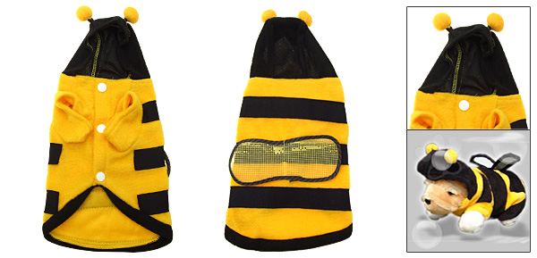 Hooded Puppy Dog Honey Bee Pet Costume