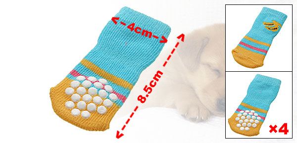 Cotton Banana Pattern Anti-slip Puppy Dog Socks (8.5 x 4cm)
