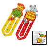 Realistic Couple Cartoon Animal Wooden Paper Clip Bookmark for Re...