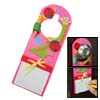 Convenient Pink Wooden Cartoon Animal Message Board