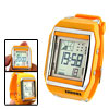 Women's Daily Sports LCD Digital Alarm Wrist Watch Yellow