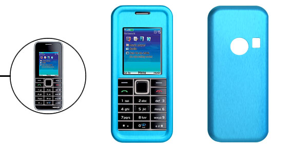 Blue Aluminum Metal Case for Nokia 3500 Classic