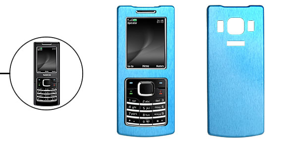 Aluminum Metal Case Cover Blue for Nokia 6500c 6500 Classic