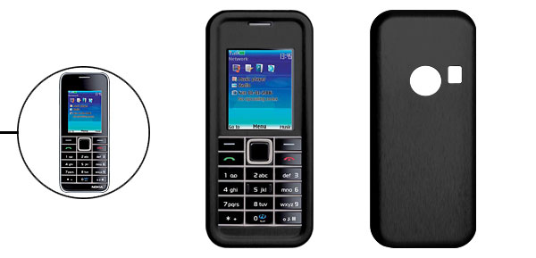 Stylish Hard Aluminum Case Cover for Nokia 3500C Black
