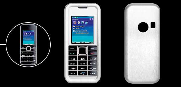 New Stylish Silvery Hard Alumminum Case Portector for Nokia 3500C