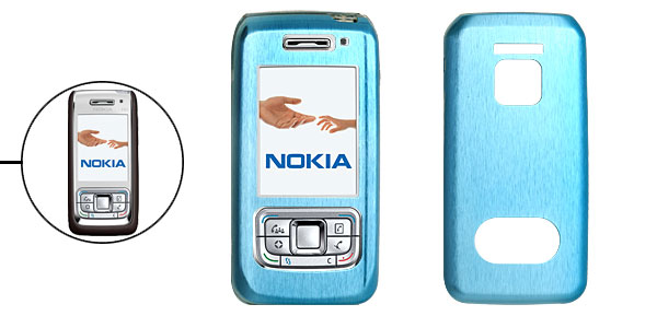 Blue Aluminum Metal Case Cover for Nokia E65