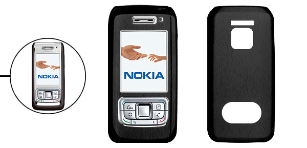 Black Metal Aluminum Case for Nokia E65