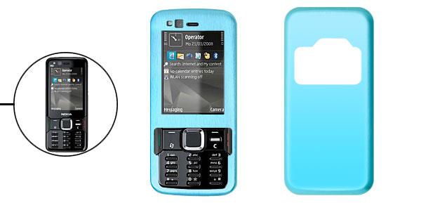 Blue Metal Aluminum Case for Nokia N82