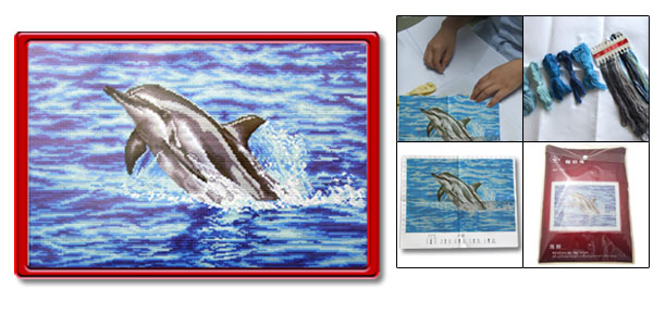 X-Stitch Counted Cross Stitch Kit Dolphin Pattern