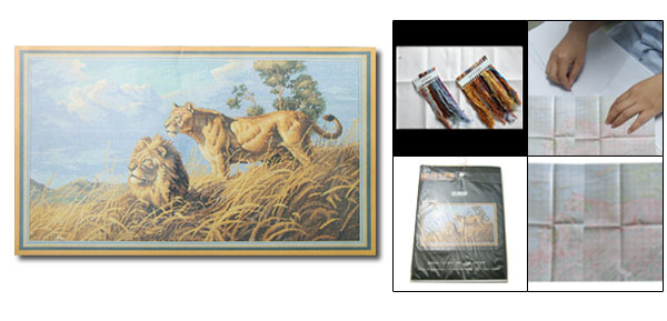 X-stitch Counted Cross Stitch Kit in Africa Lion Pattern (11CT)