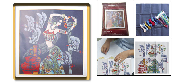 Silk Road Dancing Girl Counted Cross-Stitch Cross Stitch Kit
