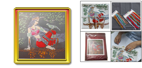 X-stitch Girl and Bird Counted Cross Stitch Kit (11CT)