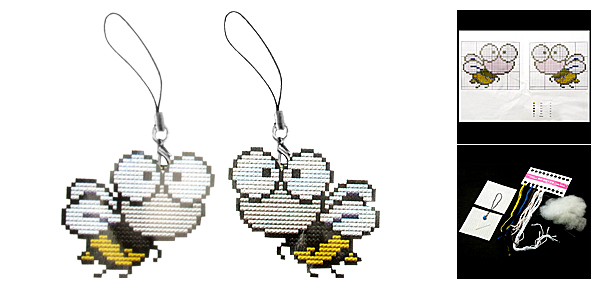 Bee Phone Strap Counted Cross Stitch Cross-Stitch Kit