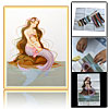 Mermaid Pattern Counted Cross Stitch Cross-Stitch Kit