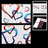 Heart Counted Cross Stitch Cross-Stitch Card Holder Kit