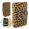 Leopard Wallet Style Soft Leather Case for iPhone 3G