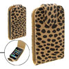 Leopard Vertical Flip Soft Leather Case Pouch for Apple iPhone 3G