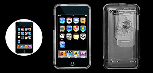 Crystal Hard Plastic Case Cover with Clip for iPod Touch 2G 2nd Gen