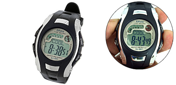 Adults Sports LCD Digital Alarm Wrist Watch Stopwatch