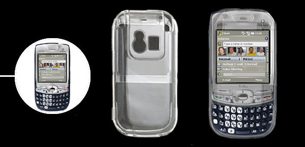 Crystal Transparent Hard Plastic Case Cover for Palm Centro 690