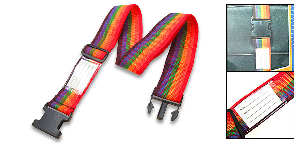 5cm Wide Travel Nylon Luggage Strap with Luggage ID Tag