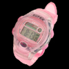Girls Child Pink Plastic Sports LCD Digital Alarm Wrist Watch