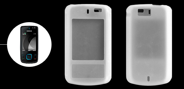 Clear White Silicone Mobile Phone Case for Nokia 6600 Slide