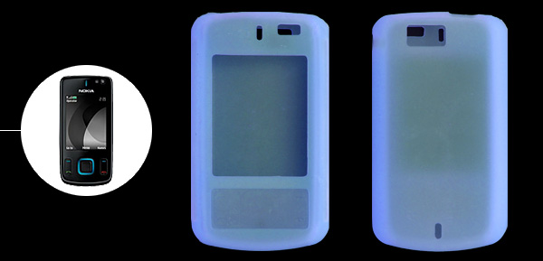 Skyblue Silicone Mobile Phone Case for Nokia 6600 Slide