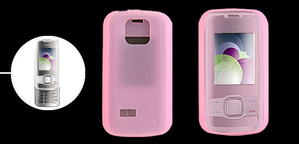 Pink Silicone Mobile Phone Case for Nokia 7610 Supernova