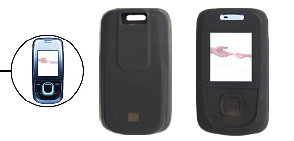 Protective Black Soft Silicone Skin Case Cover for Nokia 2680S