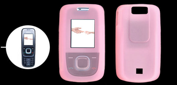 Stylish Soft Silicone Protector Case Cover for Nokia 2680S Pink