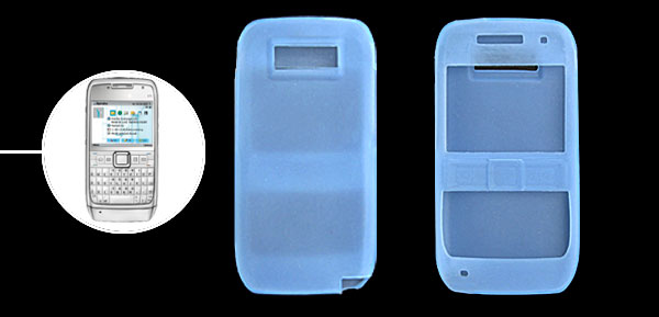 Lightblue Silicone Mobile Phone Case for Nokia E71